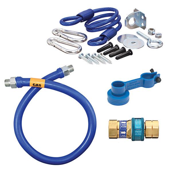 "Dormont 1675BPQR36 SnapFast® 36"" Gas Connector Kit with Restraining Cable - 3/4"" Diameter Main Image 1"