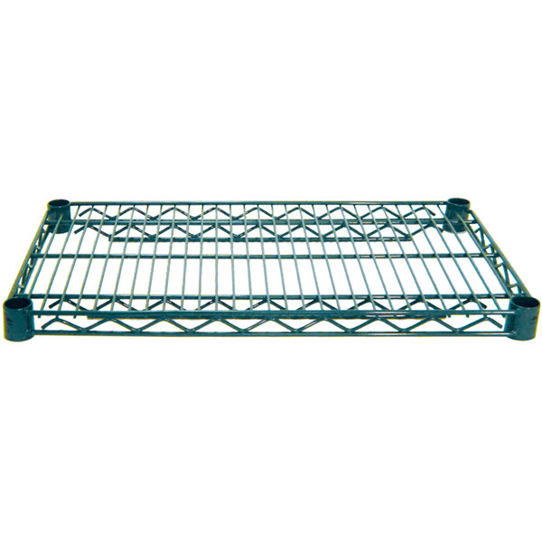 "Advance Tabco EG-1842 18"" x 42"" NSF Green Epoxy Coated Wire Shelf"