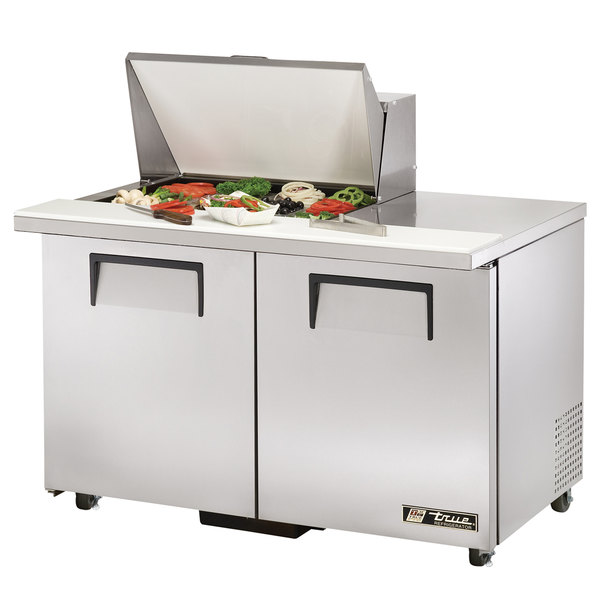 True TSSU-48-12M-B 48 inch Mega Top Two Door Sandwich / Salad Prep Refrigerator