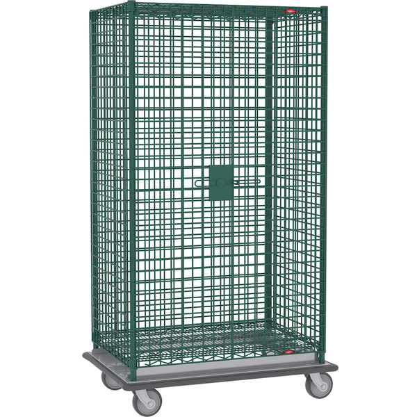 "Metro SEC56LK3 Metroseal 3 Mobile Heavy Duty Wire Security Cabinet - 63 1/8"" x 28 1/16"" x 68 1/2"""