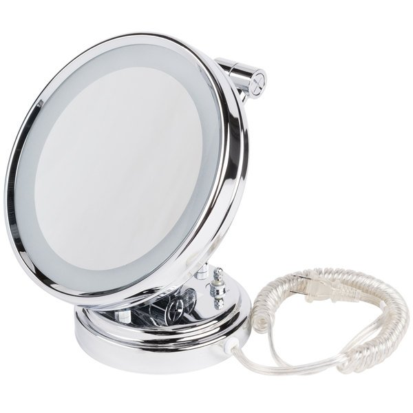"Conair BE8WMBW 8"" Diameter Lighted Wall Mount Mirror"