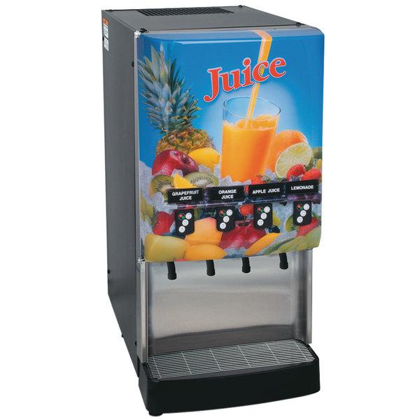 Bunn 37300.0023 JDF-4S PC LD 4 Flavor Cold Beverage Juice Dispenser with Portion Control and Lit Door Main Image 1