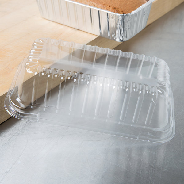 Durable Packaging Clear Dome Lid for 2 lb. Foil Bread Loaf Pan - 500/Case Main Image 7