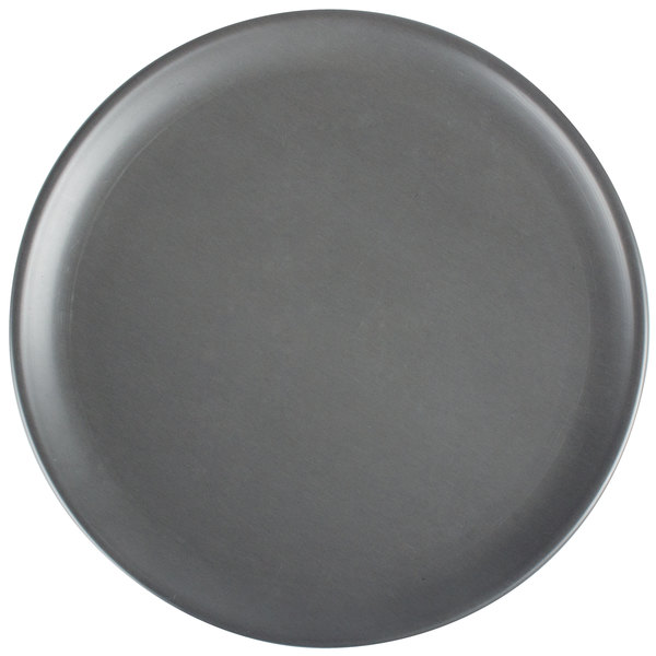 """American Metalcraft HCCTP7 7"""" Hard Coat Anodized Aluminum Coupe Pizza Pan"""