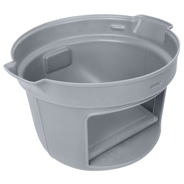 Continental 3232gy Huskee 32 Gallon Gray Dome Top Trash
