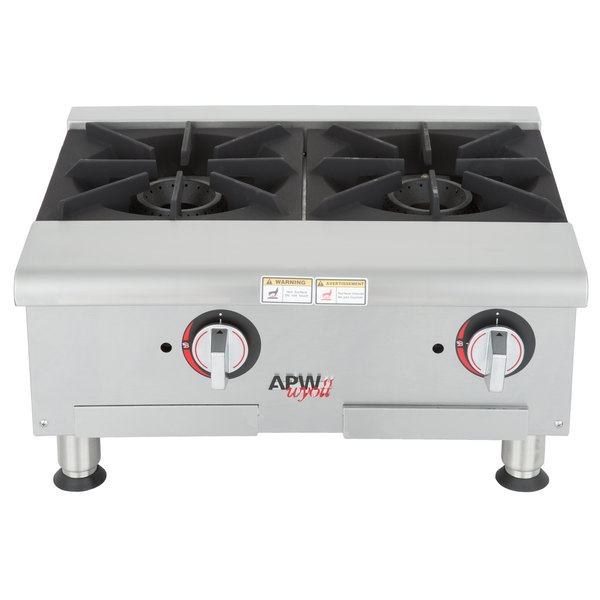 APW Wyott GHPW-2i Champion Wide 2 Burner Countertop Range