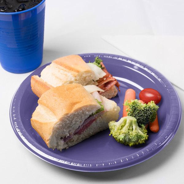 "Creative Converting 28115021 9"" Purple Plastic Plate - 240/Case"