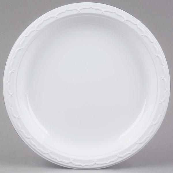 For use with private catered events banquet halls and even busy cafeterias this Genpak 71000 Aristocrat plastic plate combines impressive durability and ...  sc 1 st  WebstaurantStore & Genpak 71000 Aristocrat 10 1/4\