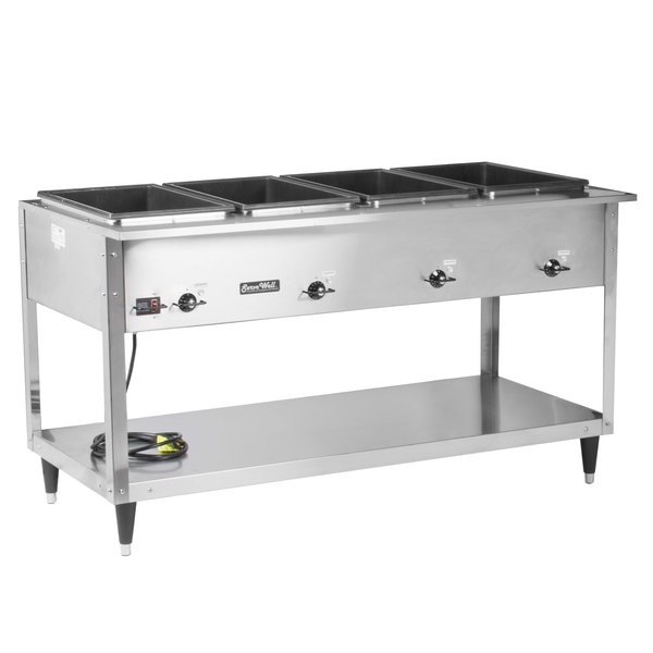 Vollrath 38204 ServeWell SL Electric Four Pan Hot Food Table 120V - Sealed Well