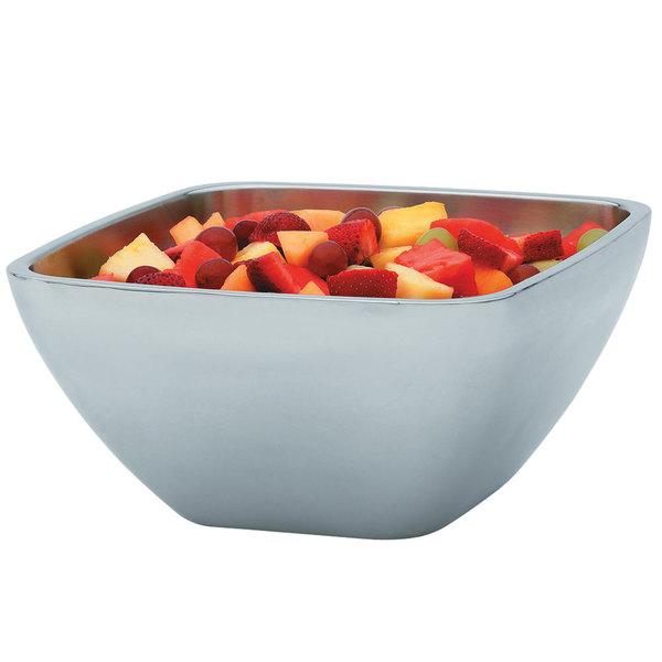 Vollrath 47675 Double Wall Square 5.2 Qt. Serving Bowl