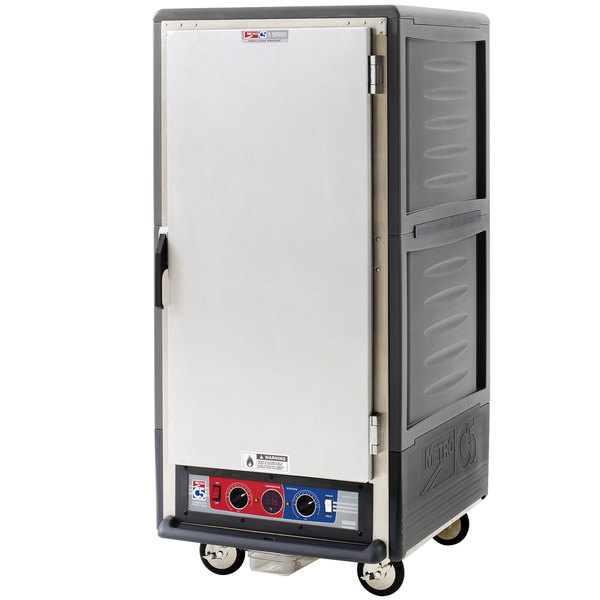 Metro C537-CFS-U-GY C5 3 Series Heated Holding and Proofing Cabinet with Solid Door - Gray Main Image 1