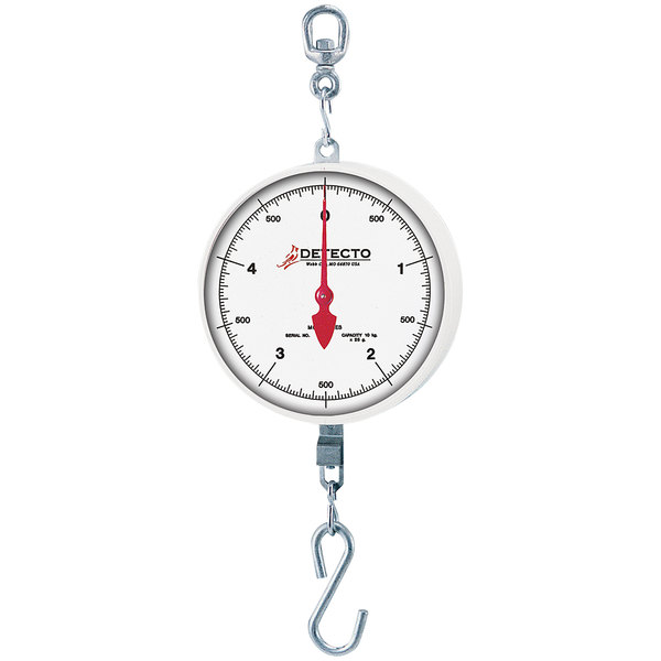 Cardinal Detecto MCS-20DF 20 lb. Hanging Fish Scale with Double Dial