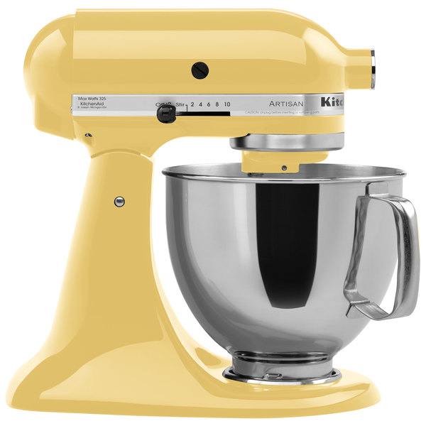 KitchenAid KSM150PSMY Majestic Yellow Artisan Series 5 Qt ... on kitchenaid mixer 6-quart pro 600, kitchenaid mixer aqua sky, kitchenaid mixer accessories, kitchenaid long slot toaster, kitchenaid by hobart,