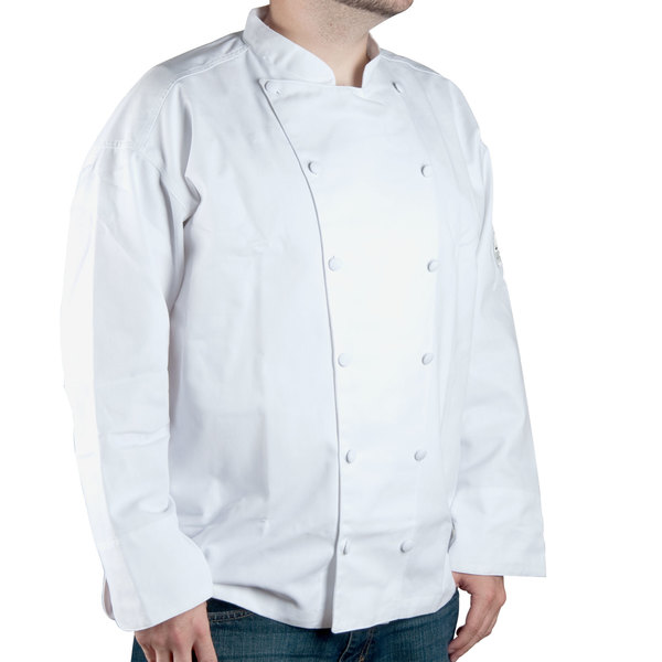 Chef Revival Gold J015-3X Chef-Tex Size 56 (3X) White Customizable Cuisinier Chef Jacket
