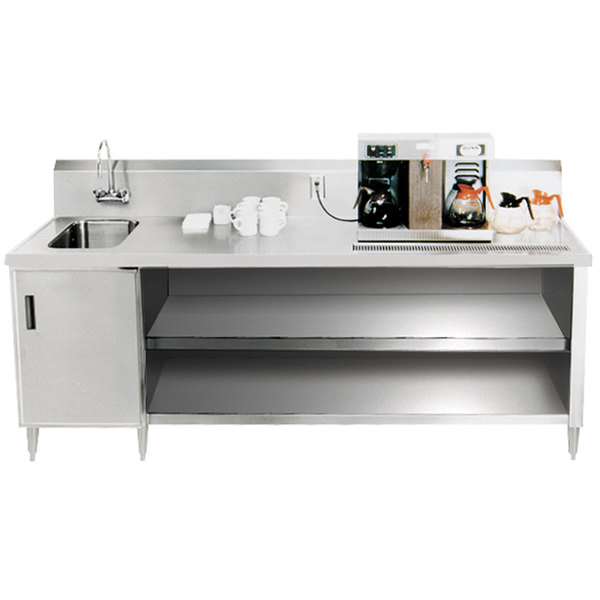 "Advance Tabco BEV-30-96 Enclosed Base Beverage Table - 96"""
