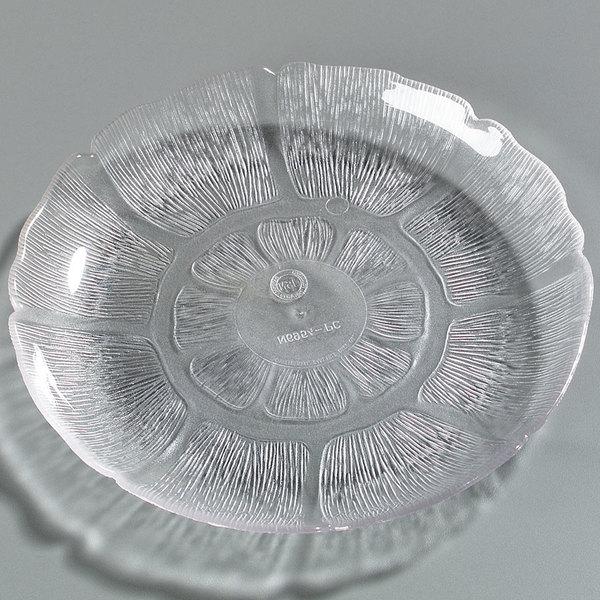 """Carlisle 6954-807 Petal Mist 7 1/2"""" Clear Polycarbonate Plate - 4/Set"""