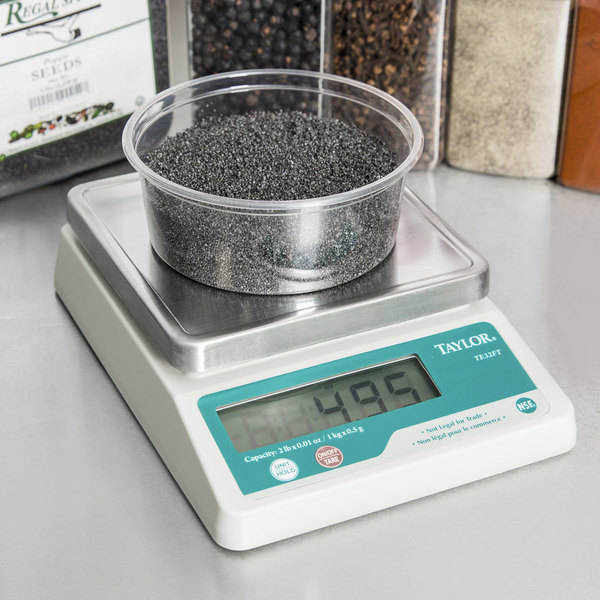 Taylor TE32FT 2 lb. Compact Digital Portion Control Scale