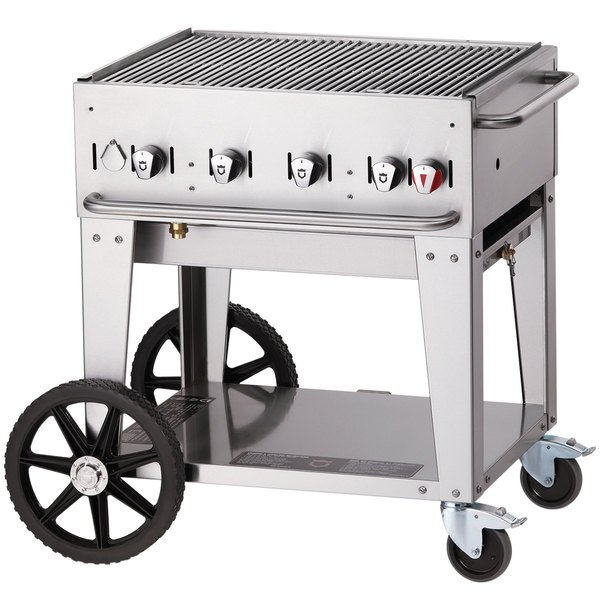 Crown Verity MCB-30 Portable Outdoor BBQ Grill / Charbroiler