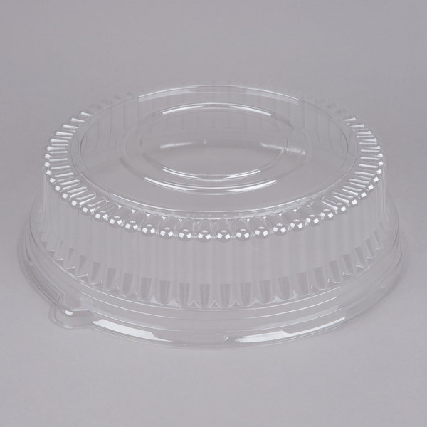 Sabert 5512 12 inch Clear Plastic Round High Dome Lid - 36/Case