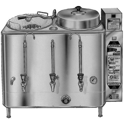 Cecilware CL200 1 PHASE Twin 6 Gallon Automatic Coffee Urn - 120/208/240V