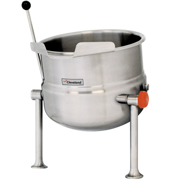 Cleveland KDT-12-T 12 Gallon Tilting 2/3 Steam Jacketed Tabletop Direct Steam Kettle Main Image 1