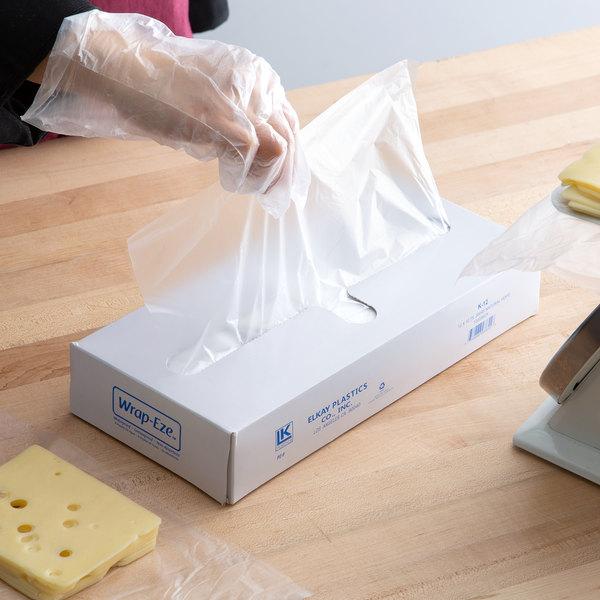 "Elkay Plastics 12"" x 10 3/4"" Plastic Deli Wrap and Bakery Wrap"