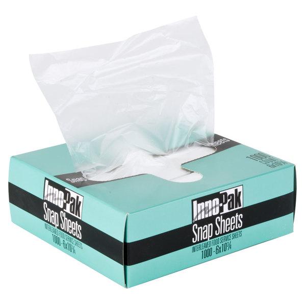 "10 3/4"" x 6"" Plastic Deli Wrap and Bakery Wrap"