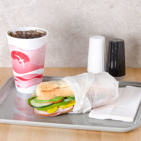 """Durable Packaging SW-12 12"""" x 10 3/4"""" Interfolded Deli Wrap Wax Paper"""