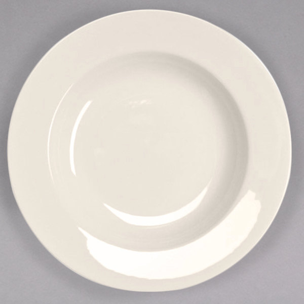 Homer Laughlin 38000 20 oz. Ivory (American White) Rolled Edge China Pasta Bowl - 12/Case