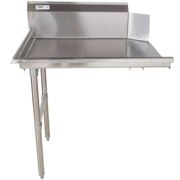 "Commercial Stainless Steel Right Side Clean 24/"" Dish Washer Table 2/' Dishwashing"
