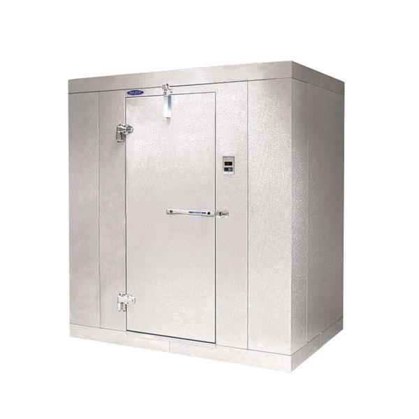 """Lft. Hinged Door Nor-Lake KL7446 Kold Locker 4' x 6' x 7' 4"""" Indoor Walk-In Cooler Box without Floor"""