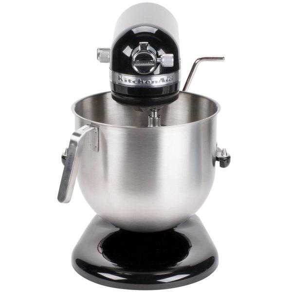 KitchenAid KSM8990OB Onyx Black NSF 8 Qt. Bowl Lift Commercial Countertop Mixer - 120V, 1 3/10 hp