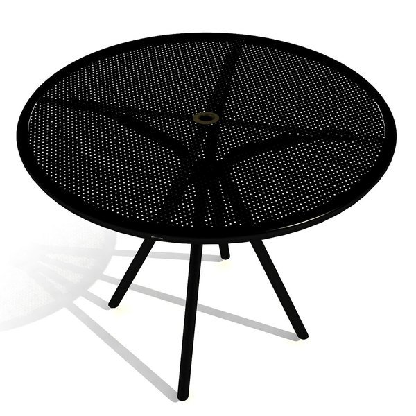 "American Tables and Seating AB36 36"" Black Round Outdoor Table"