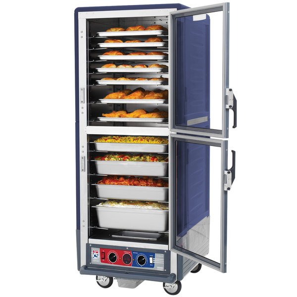 Metro C539-CDC-U-BU C5 3 Series Heated Holding and Proofing Cabinet with Clear Dutch Doors - Blue Main Image 5
