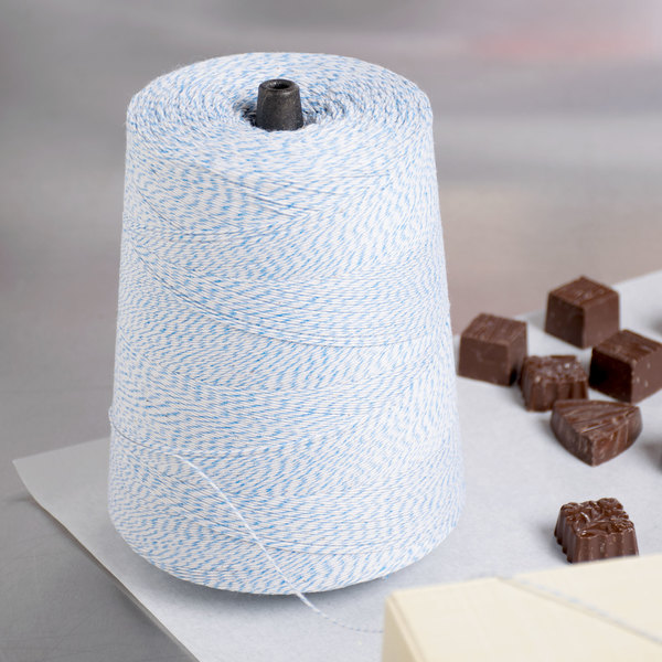 Blue and White Variegated Cotton Baker's Twine 2 lb. Cone