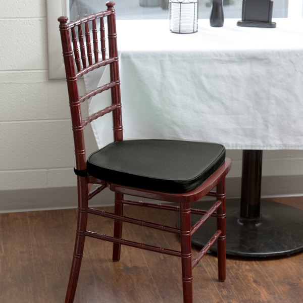 "Lancaster Table & Seating Black Chiavari Chair Cushion - 1 3/4"" Thick"