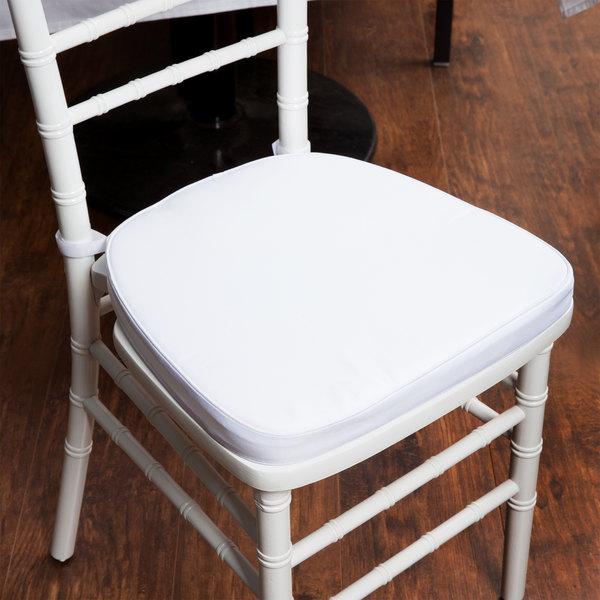 "Lancaster Table & Seating White Chiavari Chair Cushion - 1 3/4"" Thick"