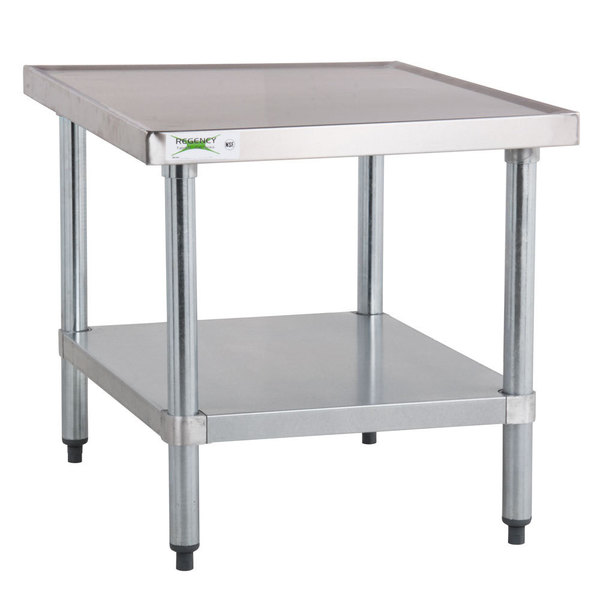 Regency X Gauge Stainless Steel Mixer Table With - Stainless steel table 18 x 24