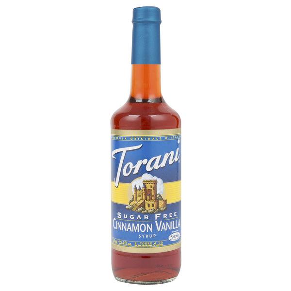 Torani 750 mL Sugar Free Cinnamon Vanilla Flavoring Syrup Main Image 1