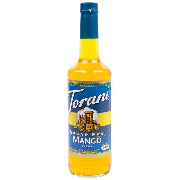 Torani 750 mL Sugar Free Mango Flavoring / Fruit Syrup Main Image 1