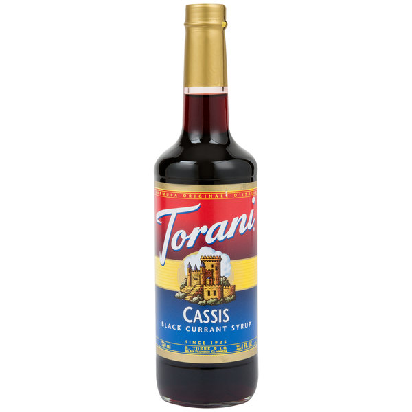 Torani 750 mL Cassis Flavoring / Fruit Syrup