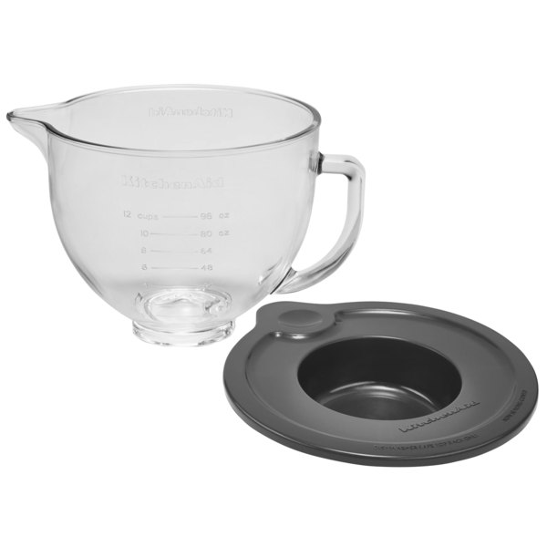 Kitchenaid Ksm5gb 5 Qt Glass Mixing Bowl With Handle And Lid For Stand Mixers