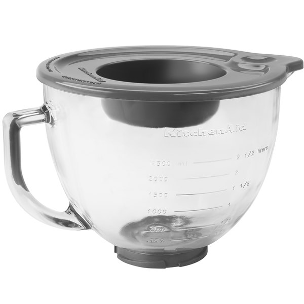 Excellent KitchenAid K5GB 5 Qt. Glass Mixing Bowl with Handle and Lid for  LN85