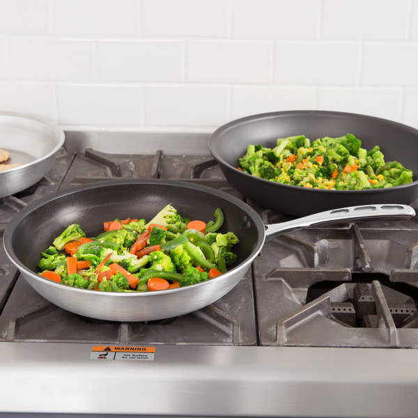"""Vollrath 67952 Wear-Ever 12"""" Non-Stick Fry Pan with CeramiGuard II and TriVent Chrome Plated Handle"""