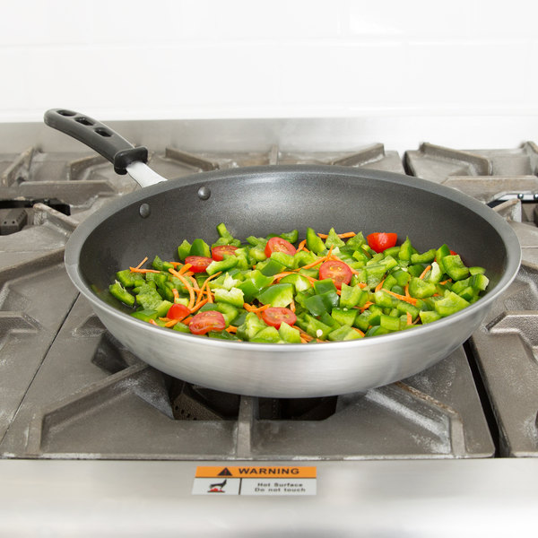 "Vollrath 67932 Wear-Ever 12"" Non-Stick Fry Pan with CeramiGuard II and TriVent Silicone Handle"