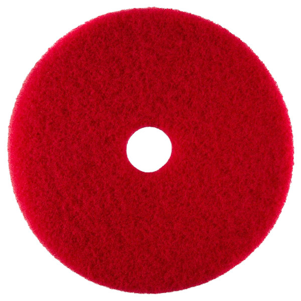 "Scrubble by ACS 51-10 Type 55 10"" Red Buffing Floor Pad - 5/Case"