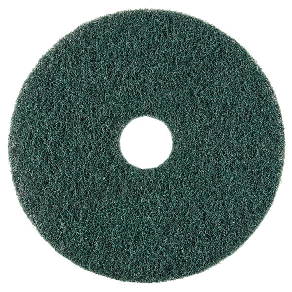 """Scrubble by ACS 73-10 10"""" Emerald Hy-Pro Stripping Floor Pad - Type 73 - 5/Case"""
