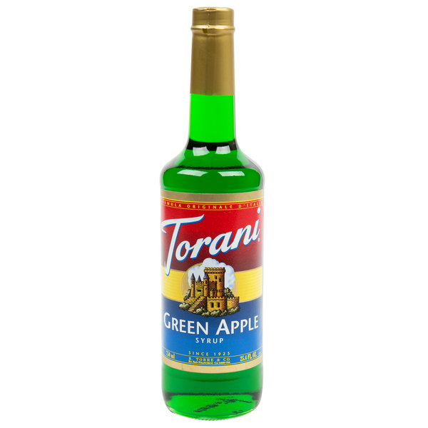 Torani 750 mL Green Apple Flavoring / Fruit Syrup Main Image 1