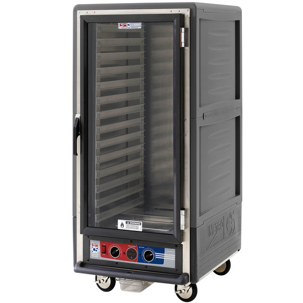 Metro C537-MFC-L-GY C5 3 Series Heated Holding and Proofing Cabinet with Clear Door - Gray