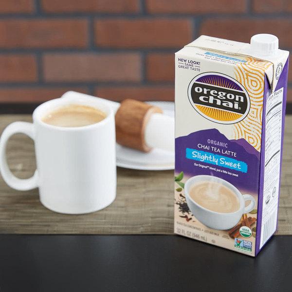 Oregon Chai 32 oz. Organic Slightly Sweet Chai Tea Latte Concentrate